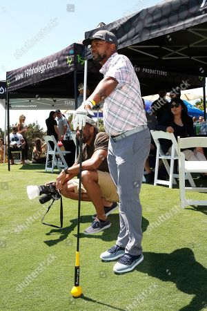 Stock Photo of US choreographer and actor Columbus Short attends the first Mike Tyson Celebrity Golf Tournament benefitting Standing United at the Monarch Beach Resort in Dana Point, California, USA, 02 August 2019. The tournament was sponsored by the Tyson Ranch and aims to help people affected by addiction and homelessness.