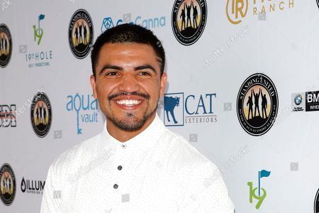 Stock Photo of US boxer and actor Victor Ortiz attends the first Mike Tyson Charity Golf Tournament benefitting Standing United at the Monarch Beach Resort in Dana Point, California, USA, 02 August 2019. The tournament was sponsored by the Tyson Ranch and aims to raise money and help people affected by addiction and homelessness.