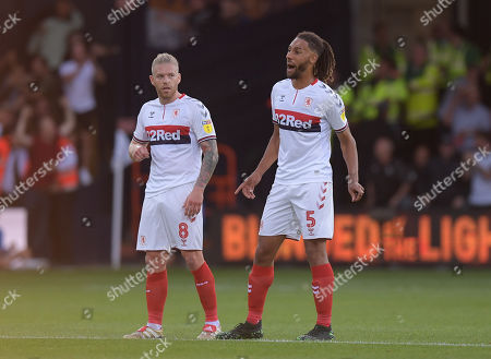 Adam Clayton of Middlesbrough and Ryan Shotton of Middlesbrough