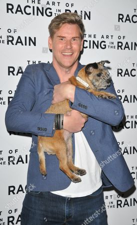 Craig Stevens with Lottie the dog