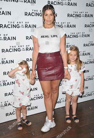 Stock Picture of Imogen Thomas with her daughters Ariana Siena Horsley, Siera Aleira Horsley