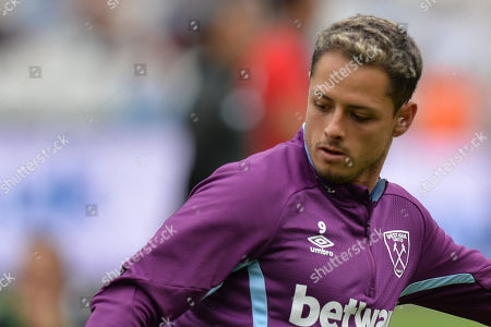 Chicharito of West Ham United during West Ham United vs Athletic Bilbao, Friendly Match Football at The London Stadium on 3rd August 2019