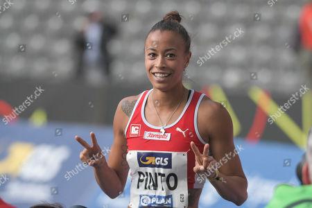 Deutsche Meisterin, Tatjana Pinto (LC Paderborn), 100m Frauen, Deutsche Meisterschaft der Leichtathletik, Berlin, 03.08.2019