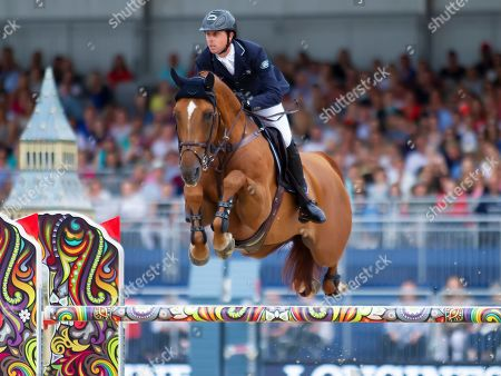 Ben Maher (GBR) riding explosion W during the Longines Global Champions Tour Grand Prix