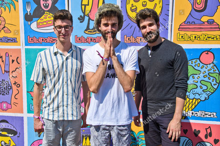 Ryan Met, Jack Met, Adam Met. Ryan Met, left, Jack Met, center, and Adam Met, right, of AJR pose for a portrait on day three of Lollapalooza in Grant Park, in Chicago