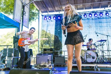 Cailin Russo of RUSSO performs on day three of Lollapalooza in Grant Park, in Chicago