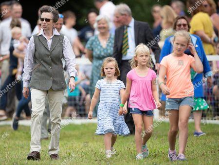 Princess Anne, Mia Grace Tindall, Isla Phillips and Savannah Phillips