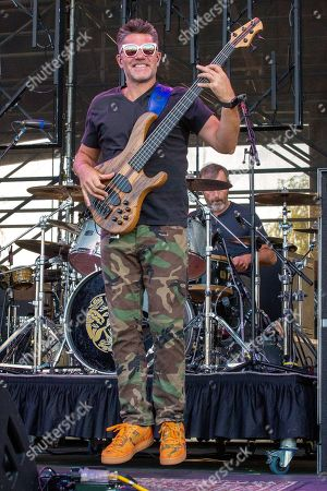 Editorial image of Blues Traveler in concert at The Lawn at White River State Park, Indianapolis, USA - 31 Jul 2019
