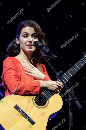 Georgia's singer Katie Melua performs on stage during the Cap Roig Festival concert played at Calella de Palafrugell's Botanical Garden in Girona, Catalonia, Spain, 03 August 2019.