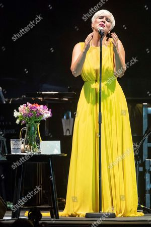 Pasion Vega performs on stage during the International Festival Cante de las Minas in La Union, Murcia, Spain, 03 August 2019.