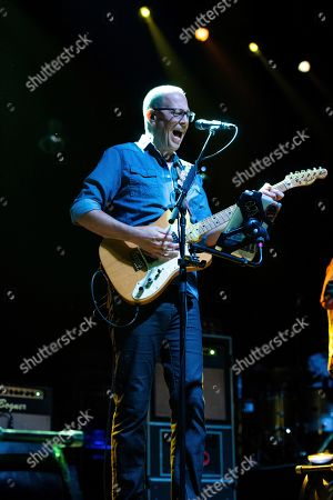 Stock Picture of Chuck Garvey of moe. performs on stage at the Coca-Cola Roxy, in Atlanta