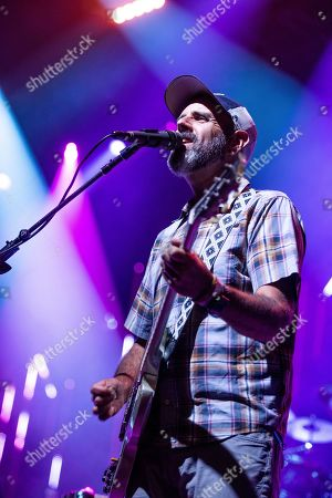 Al Schnier of moe. performs on stage at the Coca-Cola Roxy, in Atlanta