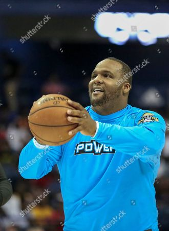 Saturday  - Power's Glen Davis shots during warmups before the Big3 game between Power and the Enemies at the Allstate Arena in Rosemont, IL. Gary E