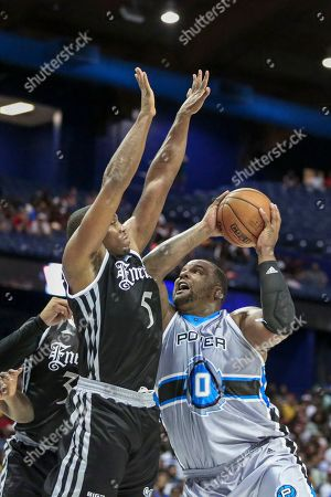 Saturday  - Power's Glen Davis makes a move toward the basket during the Big3 game between Power vs the Enemies at the Allstate Arena in Rosemont, IL. Gary E