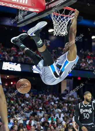 Saturday  - Power's Corey Maggette dunks during the Big3 game between Power vs the Enemies at the Allstate Arena in Rosemont, IL. Gary E
