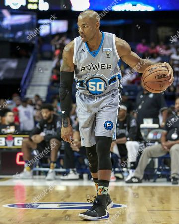 Saturday  - Power's Corey Maggette advances the ball during the Big3 game between Power vs the Enemies at the Allstate Arena in Rosemont, IL. Gary E