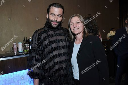 Jonathan Van Ness and Cindy Holland attend the 35th annual TCA Awards during the Summer 2019 Television Critics Association Press Tour at the Beverly Hilton Hotel, in Beverly Hills, Calif