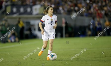 United States defender Kelley O'Hara in action during the first half of an international friendly soccer match in Pasadena, Calif