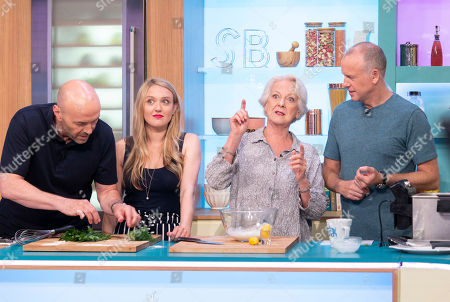 Emily Head and Susie Blake with Tim Lovejoy and Simon Rimmer