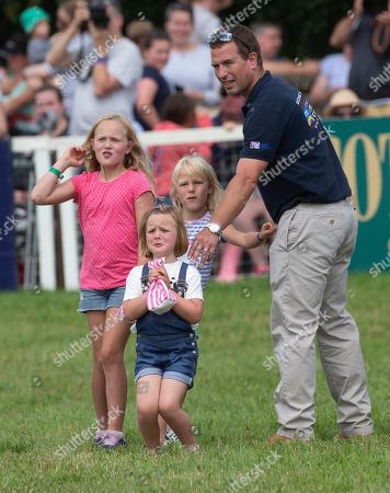 Savannah Phillips, Isla Phillips, Mia Grace Tindall and Peter Philips