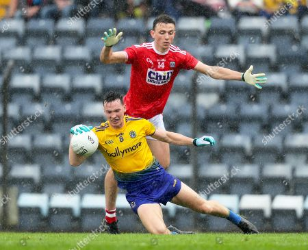 Cork vs Roscommon. Cork's Mark Collins with Tadgh O'Rourke of Roscommon