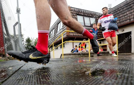 Cork vs Roscommon. Cork's Michael Martin makes his way onto the pitch