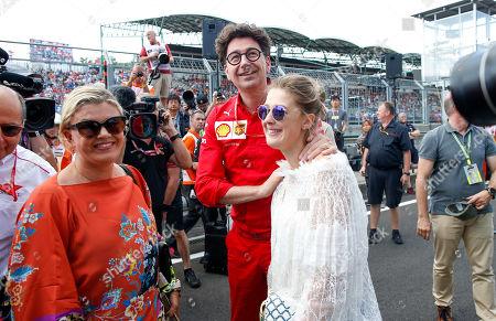 Stock Image of Motorsports: FIA Formula 2 World Championship 2019, Grand Prix of Hungary,   Corinna Schumacher (GER), Mattia Binotto (ITA, Scuderia Ferrari Mission Winnow), Gina Maria Schumacher