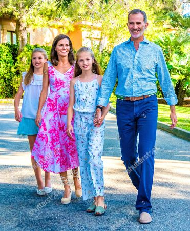 Spanish Royal family summer photocall, Marivent Palace, Palma De Mallorca