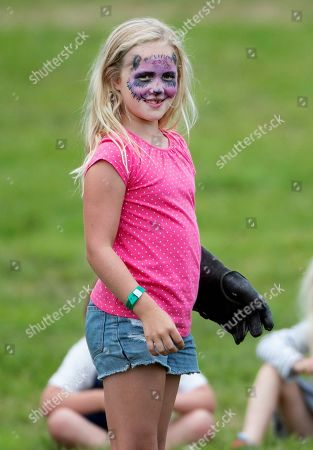 Savannah Phillips with her face painted.