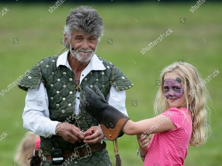 Stock Picture of Savannah Phillips during the Bird of Prey display, with falconer Ray Aliker