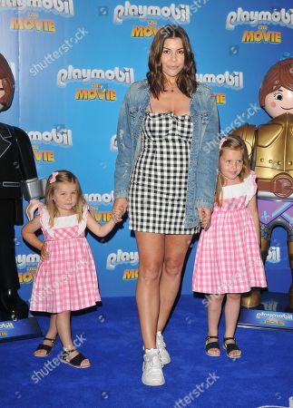 Imogen Thomas and her daughters Ariana Siena Horsley, Siera Aleira Horsley