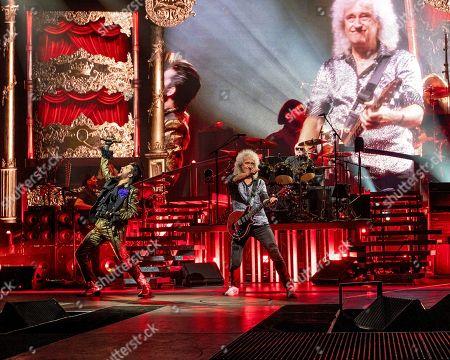Foto stock (esclusive) a tema Queen Adam Lambert concert