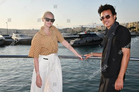 Editorial image of Omar Harfouch and Yulia Lobova photocall, Cannes, France - 02 Aug 2019