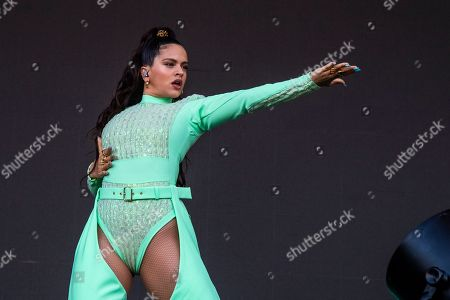 Rosalia performs on day four of Lollapalooza in Grant Park, in Chicago