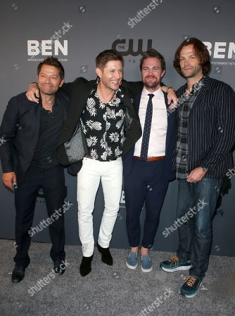 Stock Picture of Misha Collins, Jensen Ackles, Stephen Amell, Jared Padalecki, Alexander Calvert