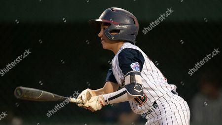 Stock Photo of Southern California's Joey Castillo during a Little League regional tournament baseball game, in San Bernardino, Calif