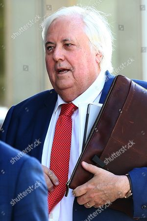 Businessman Clive Palmer arrives to the District Court in Brisbane, Thursday, July 25, 2019. Liquidators are trying to claw back 200 million Australian dollars in claims owed by Mr Palmer over the collapse of Queensland Nickel.