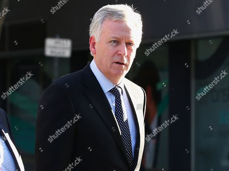 Lawyer for the liquidators, of Queensland Nickel, Shane Doyle, arrives to the Supreme Court in Brisbane, Australia, 05 August 2019. Media reports state that lawyers have received a two-day adjournment to sort out details of a deal to settle a 200 million Australian dollars lawsuit over the collapse of Queensland Nickel. Queensland Nickel is a company owned by businessman and former politician Clive Palmer. Palmer did not atttend the copurt hearing