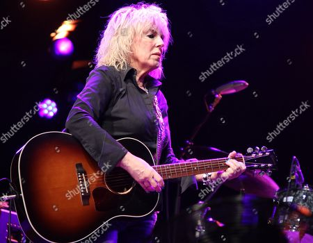 A US Grammy Award winning Country music star, Lucinda Williams performs on Day Two of the world renowned Cambridge Folk Festival at the Cherry Hinton Hall in Cambridge.