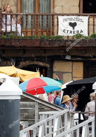 Woody Allen (bottom R) shoots scenes for his new movie in Pasajes de San Juan town, Gipuzkoa, Basque Country, northern Spain, 05 August 2019. Allen started filming his new movie in Spain on 10 July.