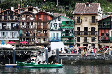 Editorial photo of Woody Allen film shooting in the Basque Country, Pasajes San Juan (Gipuzkoa), Spain - 05 Aug 2019