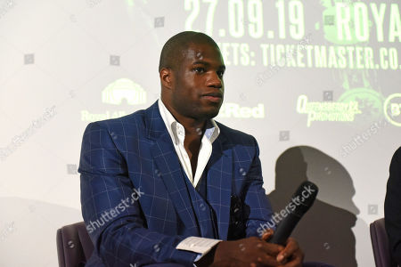 Stock Photo of Daniel Dubois during a Press Conference at the BT Tower on 5th August 2019