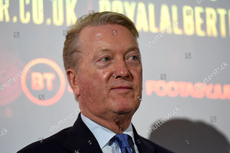 Frank Warren during a Press Conference at the BT Tower on 5th August 2019