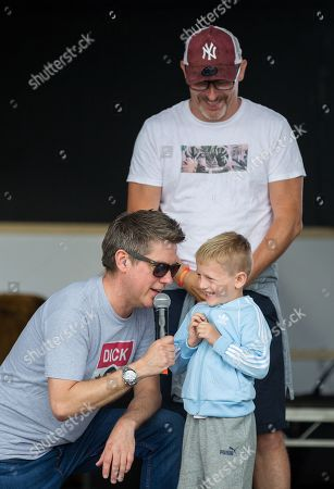 Richard McCourt with fan onstage