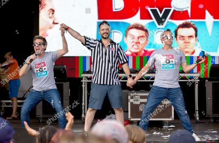 Dick and Dom with Barney Harwood