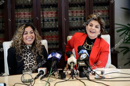 Gloria Allred, Lizzette Martinez. Attorney Gloria Allred, right, and Lizzette Martinez, one of R&B singer R. Kelly's alleged victims, hold a joint news conference, in Los Angeles