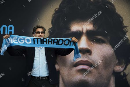 Director Asif Kapadia prior to the premiere of the film 'Diego Maradona' in the Olympic Stadium in Amsterdam, the Netherlands on August 5, 2019.