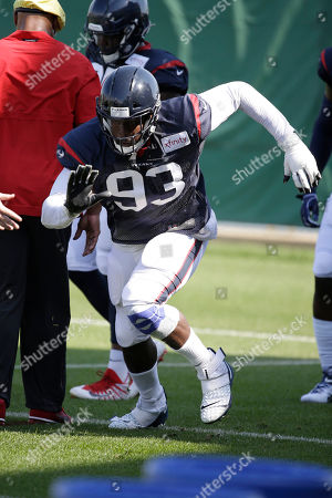 Stock Photo of Houston Texans defensive end Joel Heath during a joint NFL football practice with the Green Bay Packers, in Green Bay, Wis