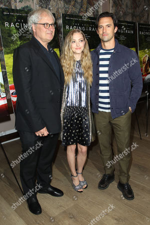 Simon Curtis, Milo Ventimiglia and Amanda Seyfried