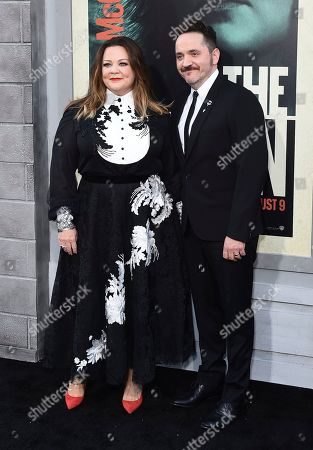 """Melissa McCarthy, Ben Falcone. Melissa McCarthy, left, and Ben Falcone arrive at the world premiere of """"The Kitchen"""" at the TCL Chinese Theatre, in Los Angeles"""